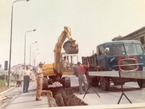 Lavori in corso alla fine degli anni '70