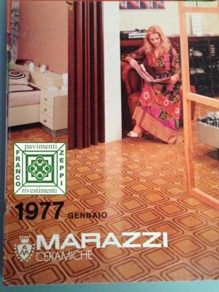 Ambientazione catalogo Marazzi 1977