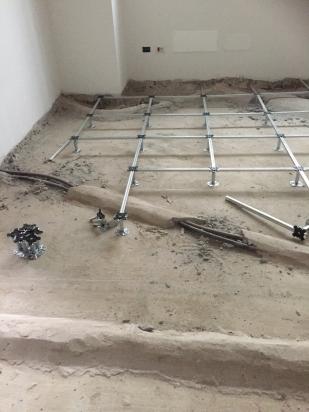 struttura pavimento sopraelevato