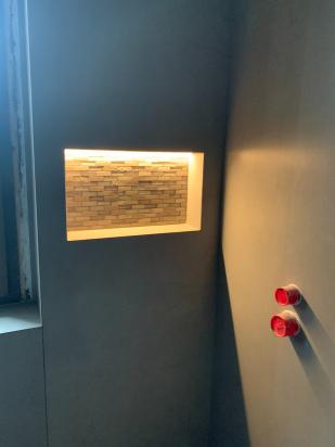nicchia doccia con led schluter system
