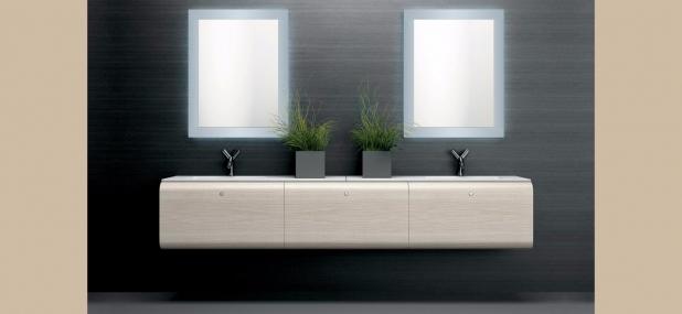 ISA bagno, monoblocco, lavabo sospeso, specchi per bagno