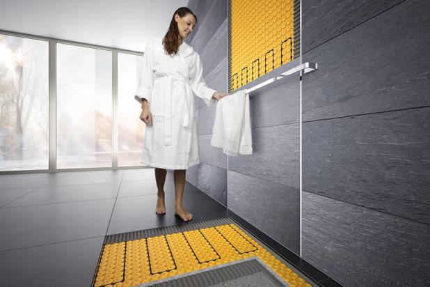 sistema elettrico di benessere bagno sia per pavimento che per rivestimento